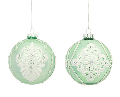 mint green glass christmas ornamentscheck price mint green and silvercheck price shiny