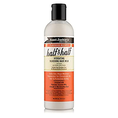 Aunt Jackie's Curls & Coils Flaxseed Recipes Half & Half Hydrating Silkening Hair Milk