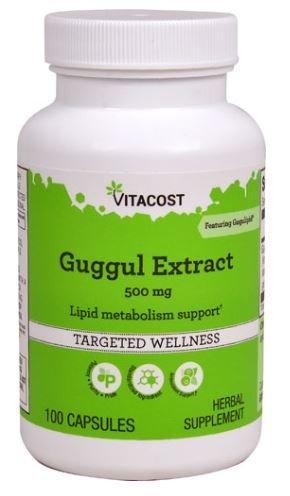 Vitacost Guggul Extract Featuring Gugulipid -- 500 Miligram - 100 Capsules