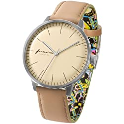 ZERONE Crossover Fantasista Utamaro Cream Beige Analogue Watch