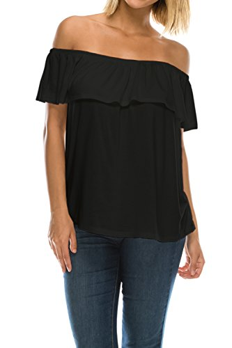 商人アプライアンス大邸宅Jubilee Couture SHIRT レディース US サイズ: L カラー: ブラック