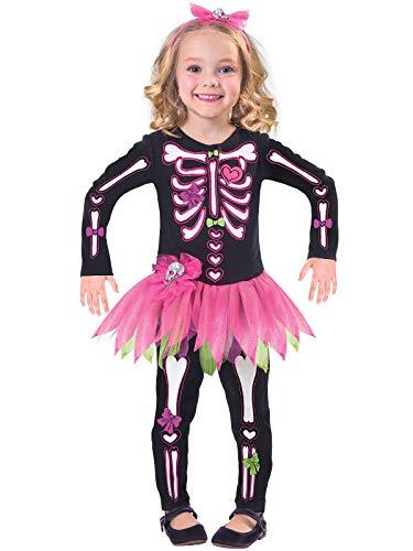 Disfraz Esqueleto Huesos - Infantil para niñas - Varias Tallas - Halloween Tienda Online disfraces - Envíos Baratos o Gratis