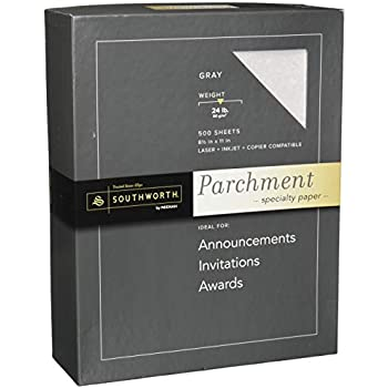 Amazon Com Parchment Specialty Paper Gray 24 Lbs 8 1