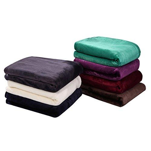 Hyseas Velvet Plush Throw Home Fleece Throw Blanket 50