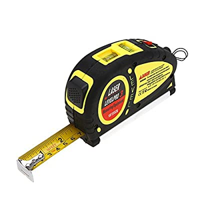 Hygoo Multipurpose Laser Level Measuring Tape Standard and Metric Tape Ruler (18ft/5.5M)