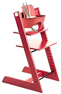 Stokke tripp trapp complete red baby for Stokke tripp trapp amazon