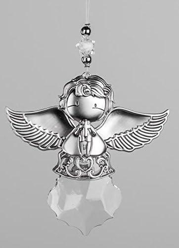 Engel 20 cm zum Aufhängen aus Edelstahl silber 1 Stück