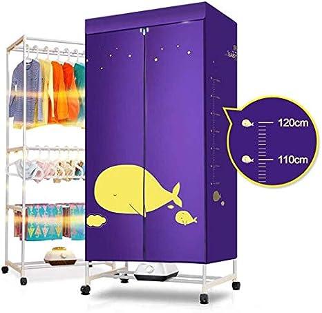 YJF-JK - Tendedero portátil eléctrico, 1200 W, 3 tiras, para uso interior, secado rápido, con calefacción, plegable, para secar al aire caliente: Amazon.es: Hogar