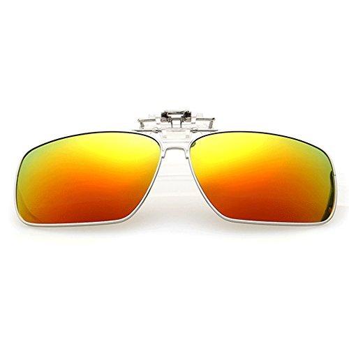 A-Royal Fashion Retro Square Myopia Polarized Clip-on Flip up Driving Fishing Sunglasses (C3) Peppers Wrap Around Sunglasses