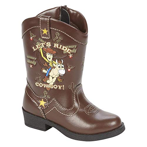 Toy Story Woody Boots (Disney Pixar Toy Story Toddler Boys Light Up Woody Cowboy Boots (Toddler/Little Kid, Size 9))