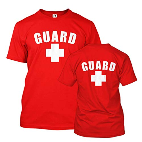 Guard T-Shirt with Back Logo (Red, X-Large)