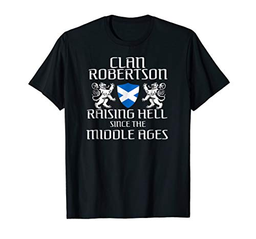 - Robertson Scottish T-Shirt Family Scotland Name Clan Gift