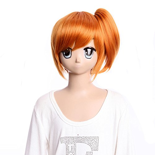 Cosplay Long Orange Synthetic Wig Dynasty Warriors Cosplay Wigs For Pokemon Misty