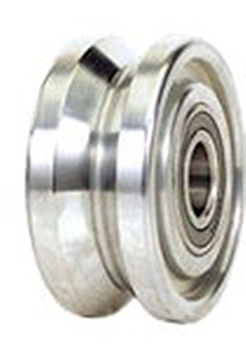 4'' x 1-3/4'' Mighty V-Groove Steel Wheel, 3000 lb Capacity, 1/2'' Bore