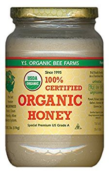 YS Organic Bee Farms CERTIFIED ORGANIC RAW HONEY 100% CERTIFIED ORGANIC HONEY Raw, Unprocessed, Unpasteurized - Kosher 32oz (Pack of - Honey Unpasteurized Liquid