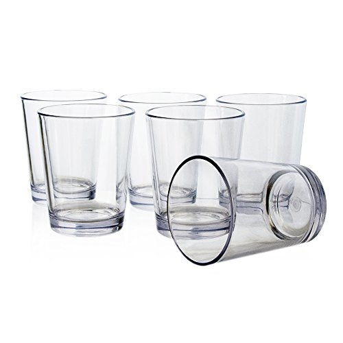 Bistro 15-ounce Premium Quality Clear Plastic Tumblers | set of 6 by US Acrylic