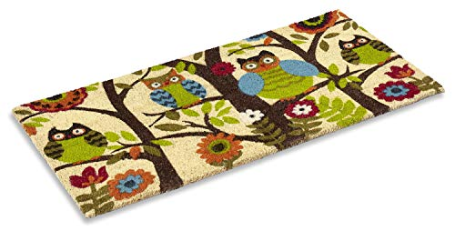 Kempf Forrest Owls Coco Door Mat with Vinyl Backing (18