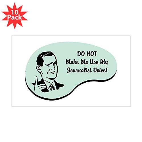 CafePress - Journalist Voice Rectangle Sticker 10 Pk - Rectangle Bumper Sticker (10-Pack), Car Decal