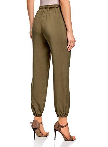 Pantaloni Donna Viscosa Laccetti oodji Ultra Verde con 6800n in TqxEPZf
