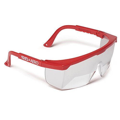 Aeros Instruments - Aviation Flight Training Glasses - IFR Certified View Limiting Device for Pilot Training & Simulation of Instrument Meteorological Conditions - Frosted Adjustable Polycarbonate Frames (1, Red)