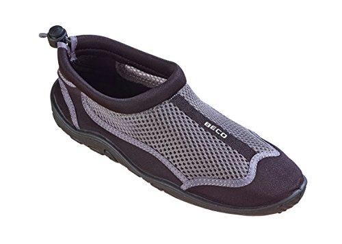 Beco–Escarpines para Surf, zapatillas de playa, para hombre y mujer (gris/verde, 39) negro