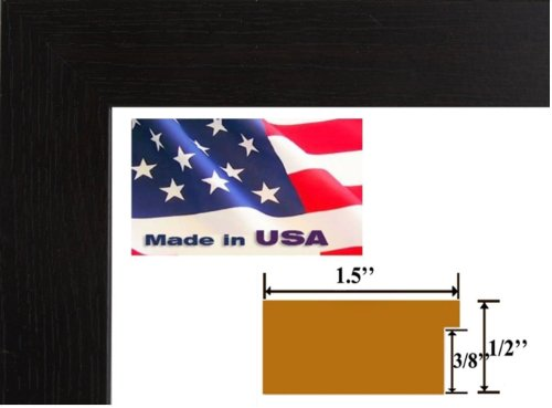 Picture Frame Coffee (18x24 Elegant Super Thick 1.5 inch Flat Colombian Coffee Black Wall Decor Picture Poster Photo Frame Wood Composite Mdf #SPRTHICK)