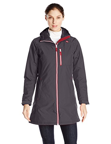 Helly Hansen Women's Long Belfast Insulated Winter Jacket, Charcoal, Medium