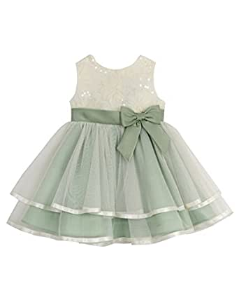 Amazon Rare Editions Baby Girls Lace to Mesh Social