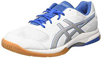 Asics GEL-Rocket 8 Men's Indoor Shoes, White, AU9.5