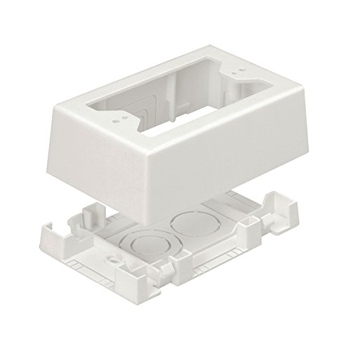 - Panduit JBX3510WH-A 1-Gang Outlet Box, White, 2-Piece