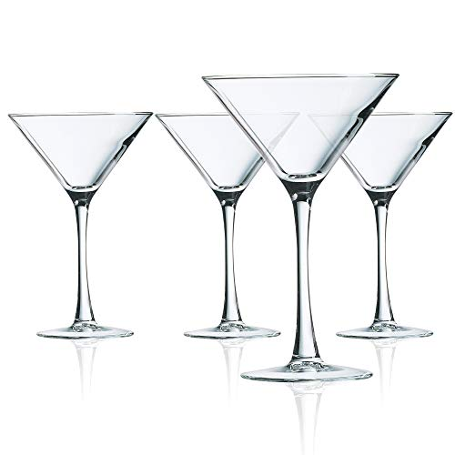 Luminarc N7340 Cachet 10 Ounce Martini Glass, Set of 4, Clear ()