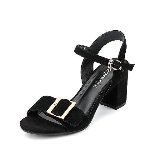 Moda Mujer verano sandalias confortables,42 azul Black