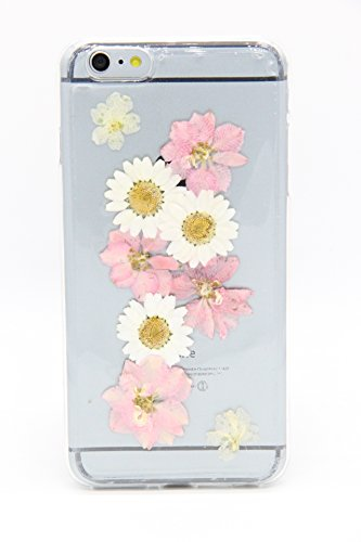 iPhone 6 6s Case, Shopping_Shop2000® Ultra Thin Daisy Floral Real Pressed Dried Flowers TPU Gel Rubber Skin Silicone Protective Plastic Soft Phone Case for iphone 6 6s 4.7