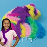Toy / Game Mini Marabou Dress Up Boas Assorted Colors (12) - Dress-Up Party Favors For Princess Parties