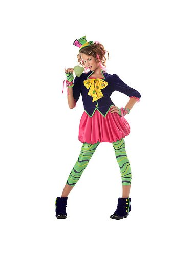 Costumes For Tweens Ideas (California Costumes Girls Tween Mad Hatter Costume, Multi, X-Large)