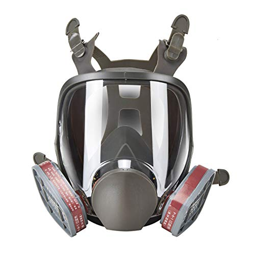 Holulo Full Face Facepiece Respirator Paint Spray Mask with 2 x Organic Vapor Cartridges by Holulo (Image #7)