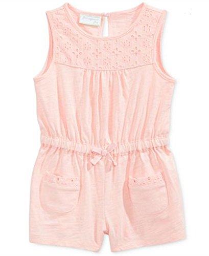 - First Impressions Baby Girls'Eyelet-Trim Cotton Romper (12 Months, Pink)