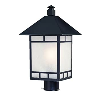 Acclaim 9027BK Artisan Collection 1 Light Post Mount Outdoor Light Fixture,  Matte Black