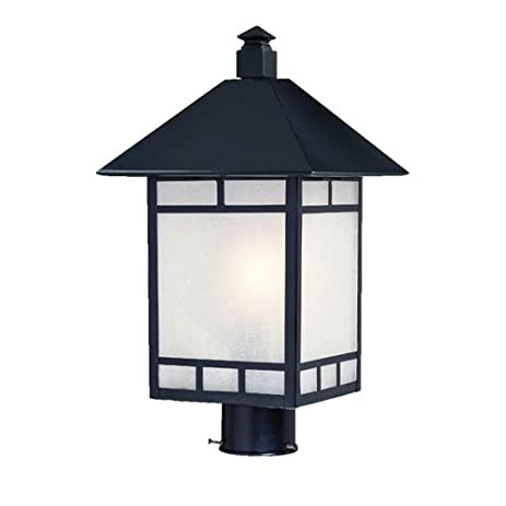 acclaim 9027bk artisan collection 1light post mount outdoor light fixture matte black