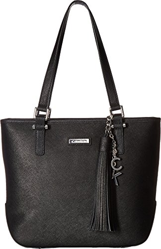 South Shoulder Tote (Calvin Klein Women's North/South Tote Black/Silver One Size)