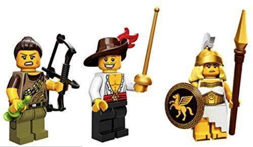 Dino Hunter, Swashbuckler, Greek Battle Goddess: Lego Collectible