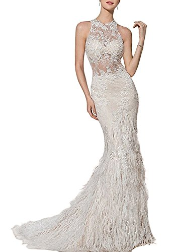 beaded and feather dress - 7