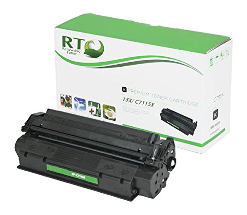 Renewable Toner Compatible Toner Cartridge High Yield Replacement for HP 15X C7115X for Laserjet 1200 3300 3310 3320 ()
