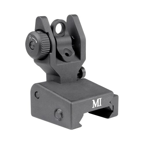 Midwest Industries Low Profile Flip Rear Sight, Black by Midwest Gloves