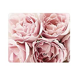 Mouse Pad Pink Roses 36230 Oblong Shaped Mouse Mat Design Natural Eco Rubber Durable Computer Desk Stationery…