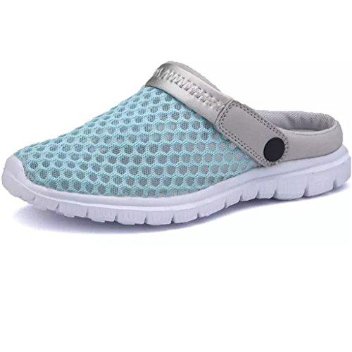Sommer Damen Clogs Atmungsaktiv Mesh Herren Hausschuhe Schuhe Outdoor Rutschfest Sandalen Pantoletten Eagsouni pTHyRx0OJW