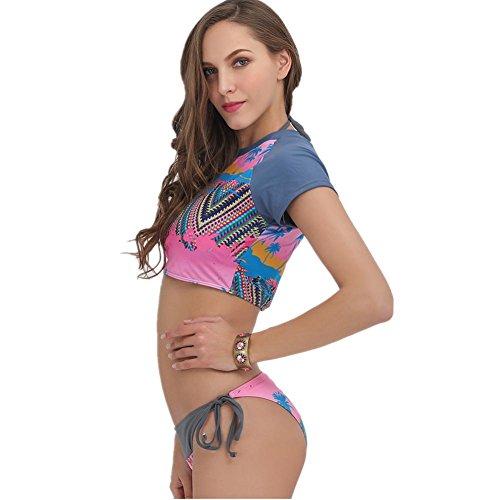 SHISHANG Señora bikini señoras traje de baño tres conjuntos de bikini de alta elástico de estilo europeo y americano nuevo sets of three pieces