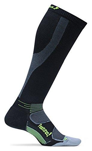 Feetures! Men's Graduated Compression Knee High, Black, Medium