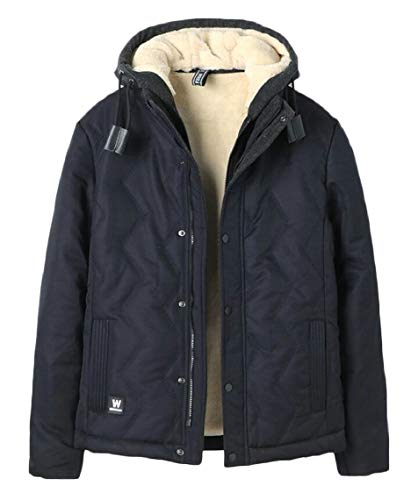 Cotton Hooded Coats Outerwear 1 Gocgt Men Padded Jacket Parka qIwBBZ