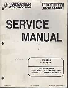 1998 mercury outboard service manual